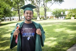 Kent Cash graduated from PCC and transfered to Elizabeth City State University