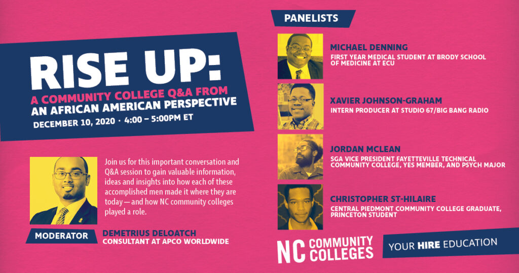 Rise Up: A Community College Q&A from an African American Perspective
