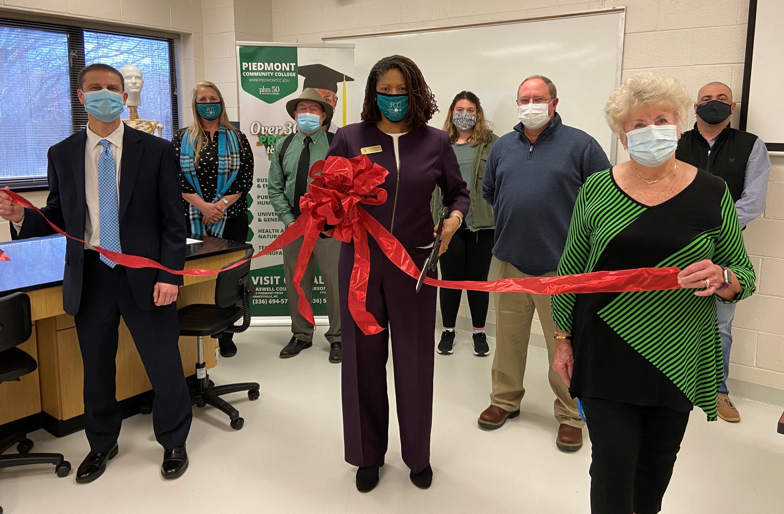 Science Lab Ribbon Cutting 3-21