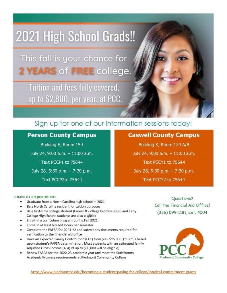 Longleaf commitment grant flyer with registration information.